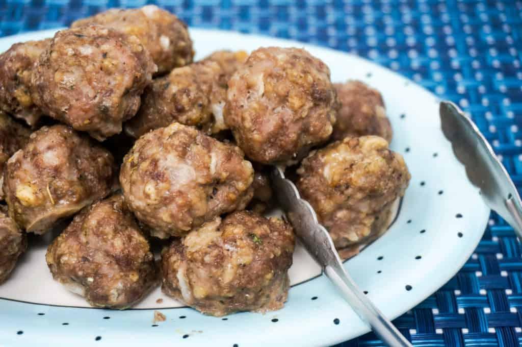 Beef and Pork Meatballs in Air Fryer