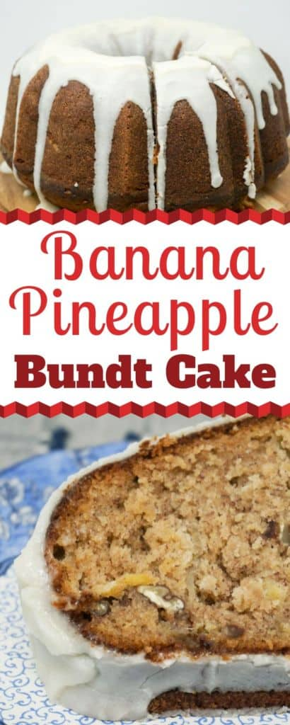 Banana Pineapple Bundt Cake