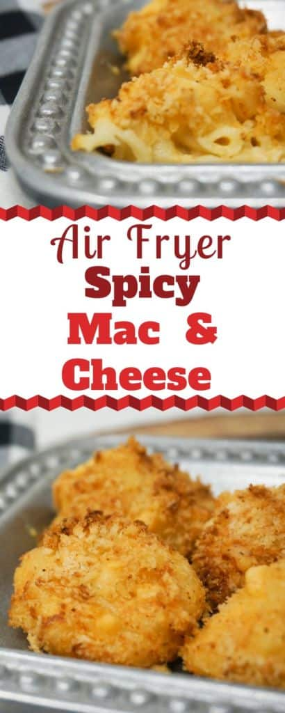 Air Fryer Spicy Mac and Cheese Bites