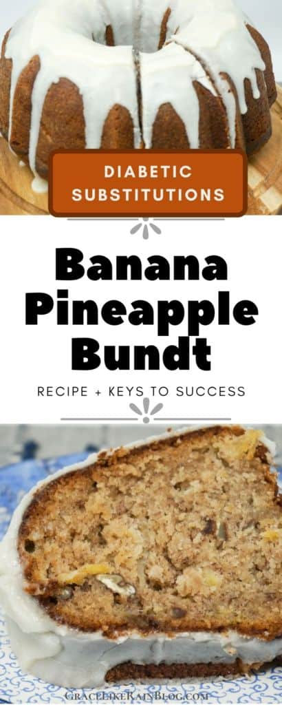 Banana Pineapple Bundt with Diabetic Substitutions
