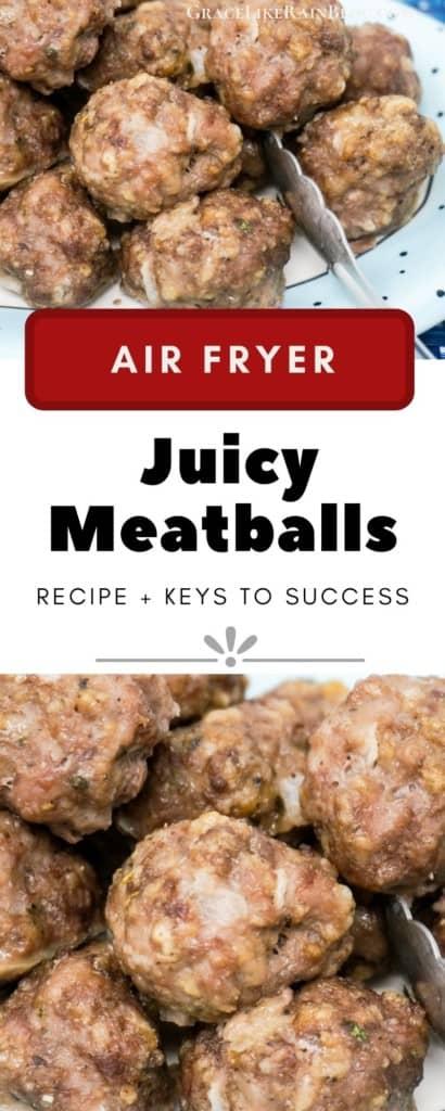 Air Fryer Juicy Meatballs