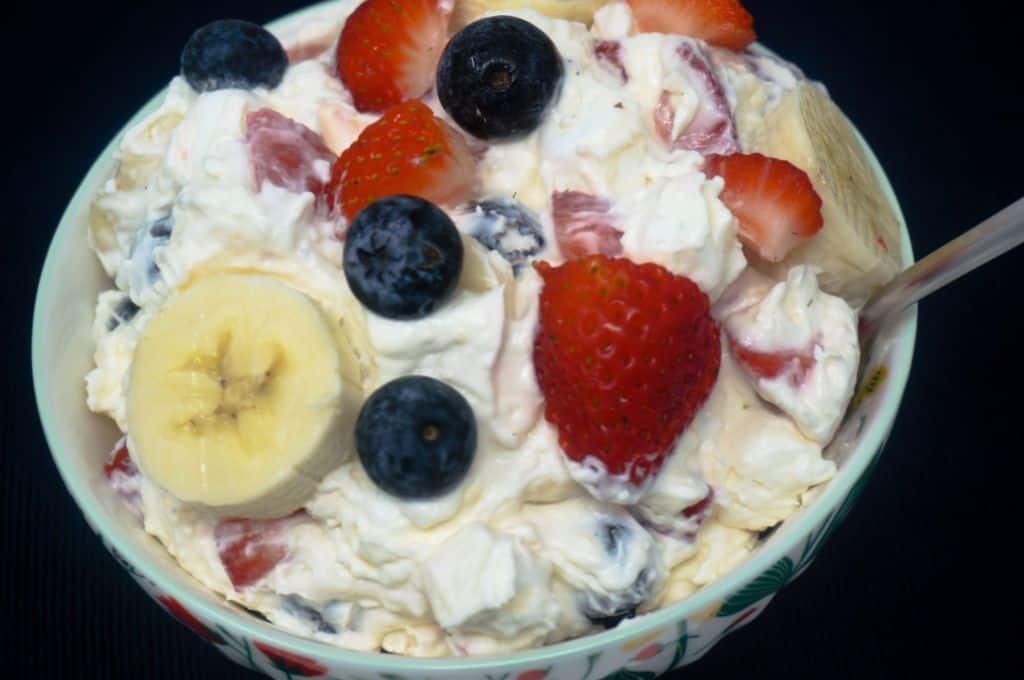 Cheesecake Pudding Fruit Salad