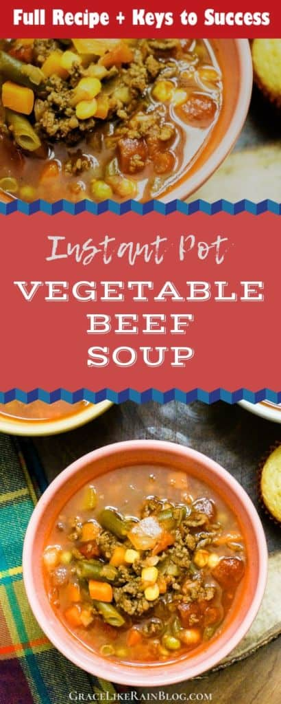 Instant Pot Vegetable Beef Soup with Keys to Success