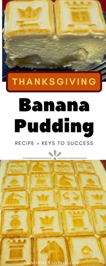Thanksgiving Banana Pudding with Chessman Cookies