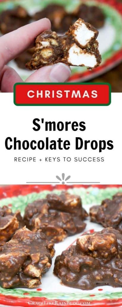 Christmas Smores Chocolate Drops