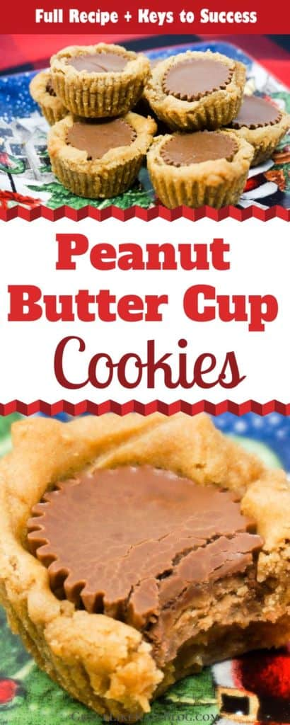 Peanut Butter Cup Cookies for Christmas Cookie Exchange