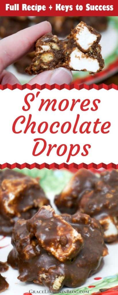 Smores Chocolate Drops Recipe