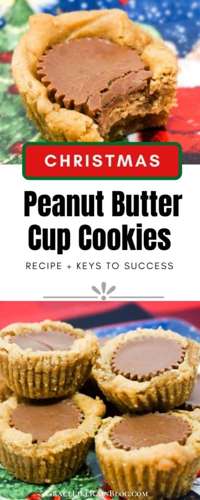 Christmas Peanut Butter Cup Cookies