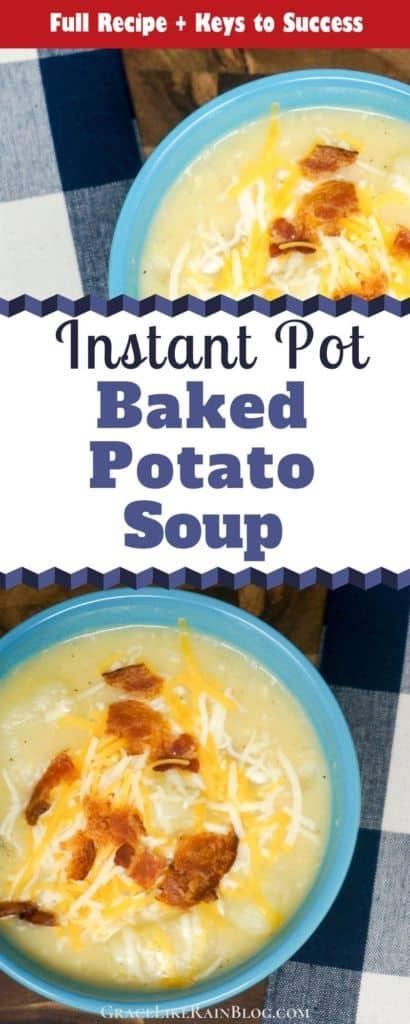 Instant Pot Loaded Baked Potato Soup Recipe