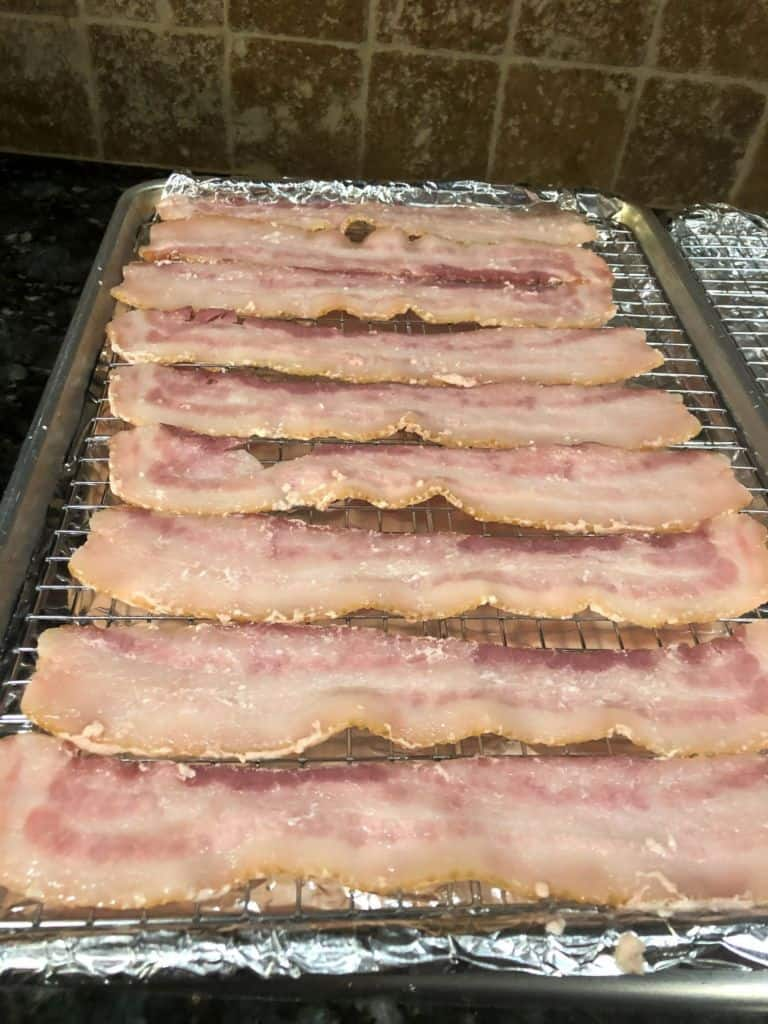 Sous Vide Bacon ready for the oven