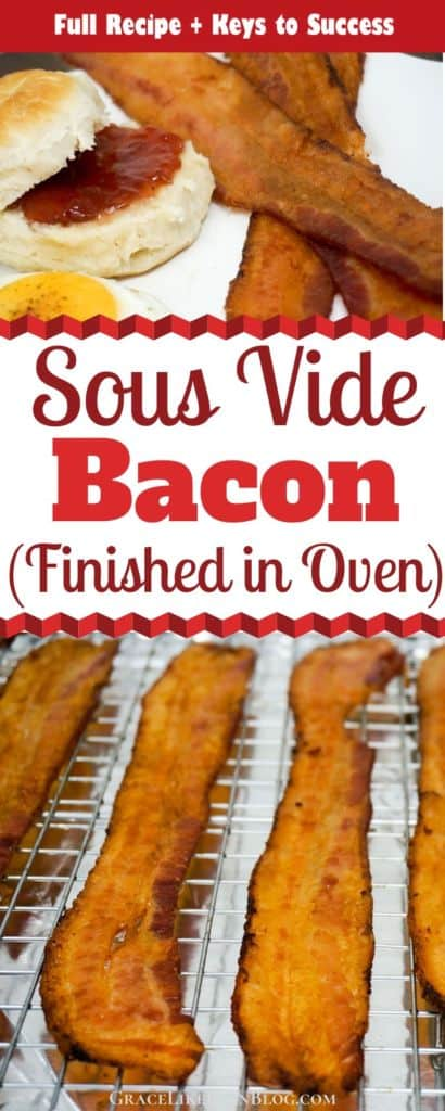 Sous Vide Bacon Recipe Finished in Oven