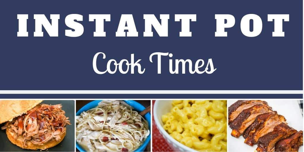 Instant Pot Cook Times Small