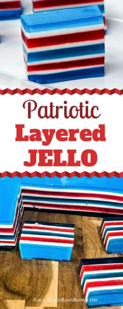Patriotic Layered Jello