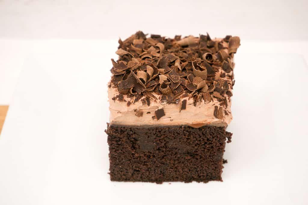 Dark Chocolate Poke Cake