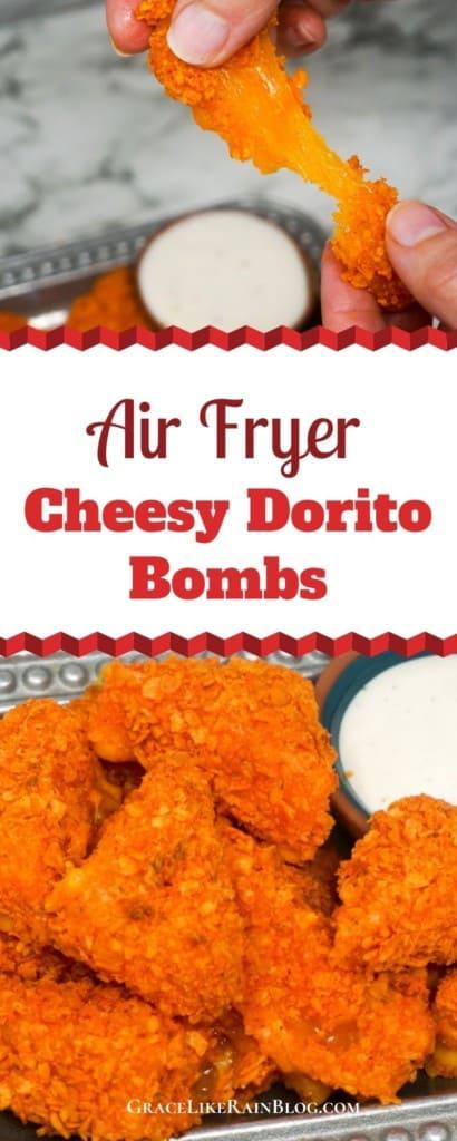 Air Fryer Cheesy Dorito Bombs
