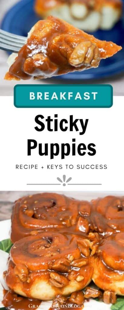Sticky Puppies Caramel Cinnamon Rolls