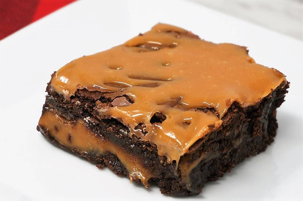 brownie caramel layer bars recipe
