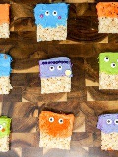 Halloween Rice Krispie Treat Monsters