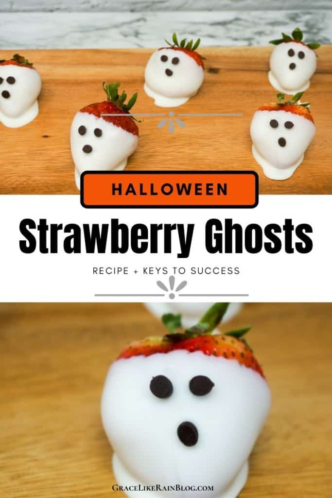 Halloween Strawberry Ghosts