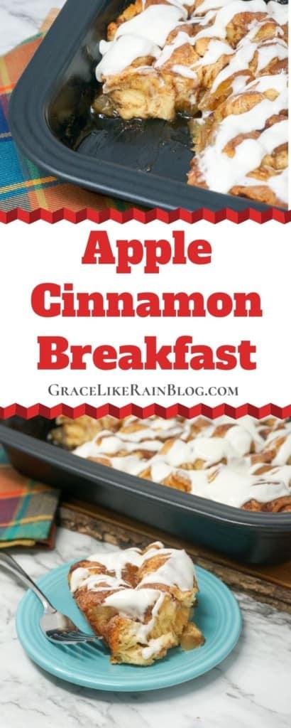 Apple Pie Cinnamon Roll Breakfast Casserole