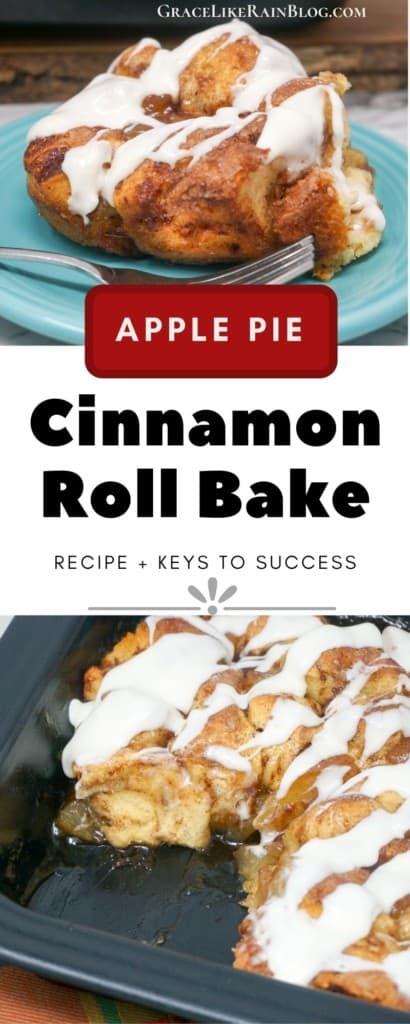 Apple Pie Cinnamon Roll Breakfast Bake