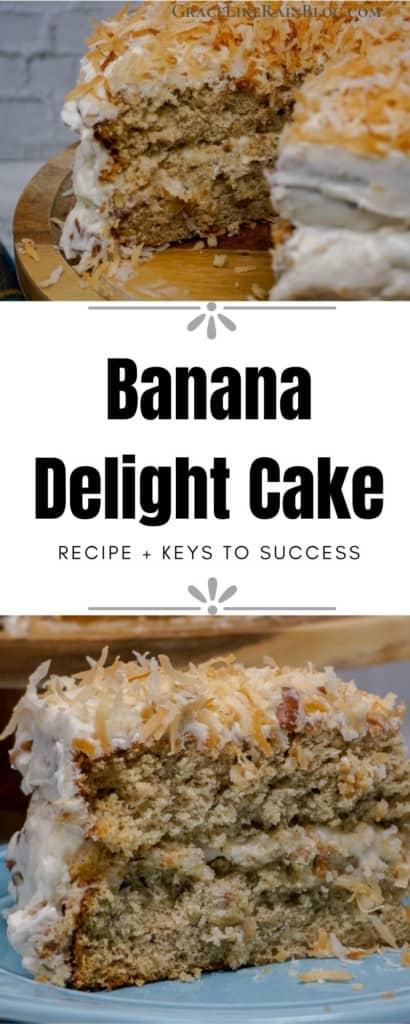 banana delight cake