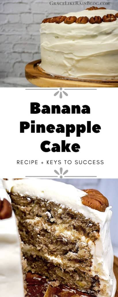 Banana Pineapple Cake with Cream Cheese Frosting