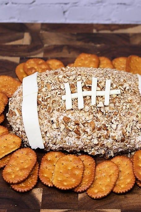Football-shaped Cheese Ball