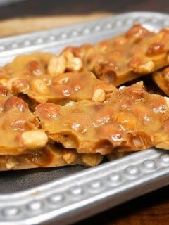 Microwave peanut brittle buttery