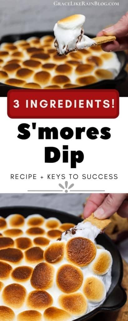 3-Ingredient S'mores Dip