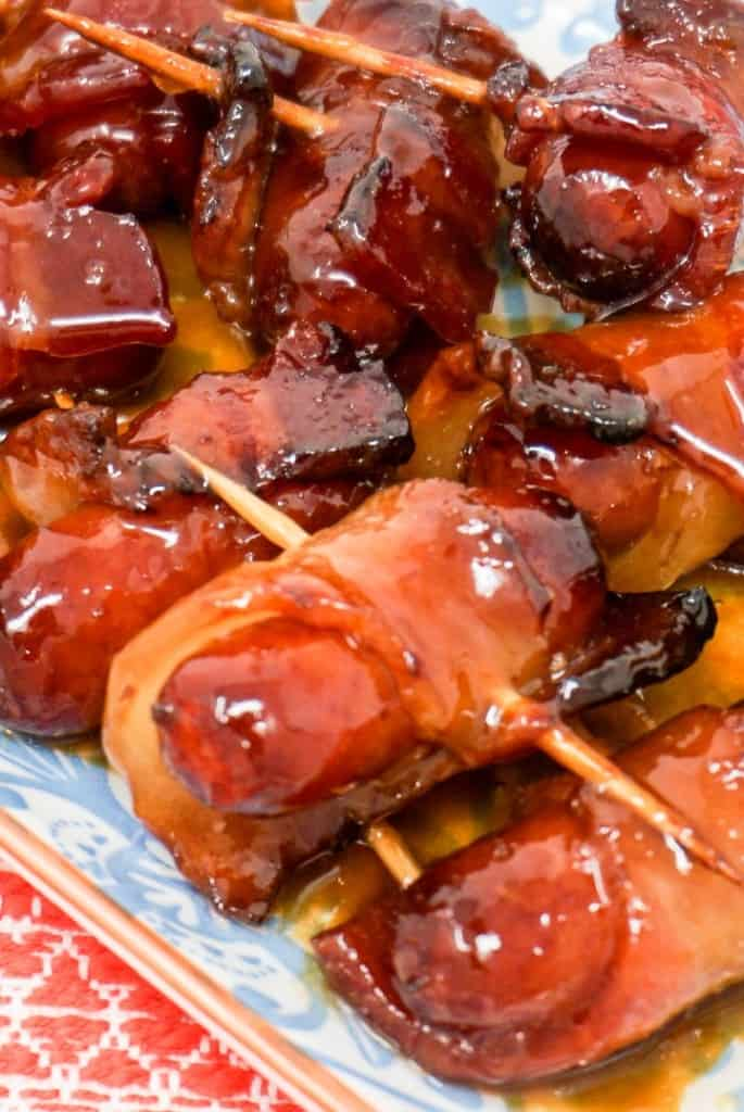 Air Fryer Bacon Wrapped Smokies