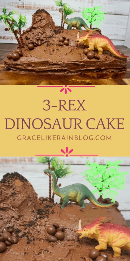 3-Rex Dinosaur Cake
