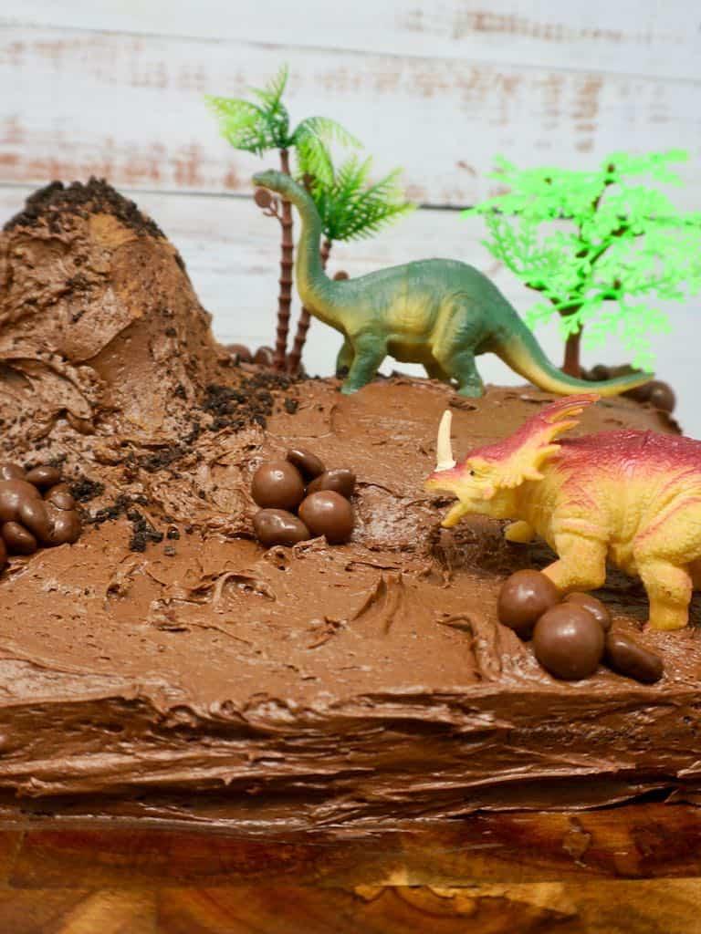 Dinosaur Chocolate Cake