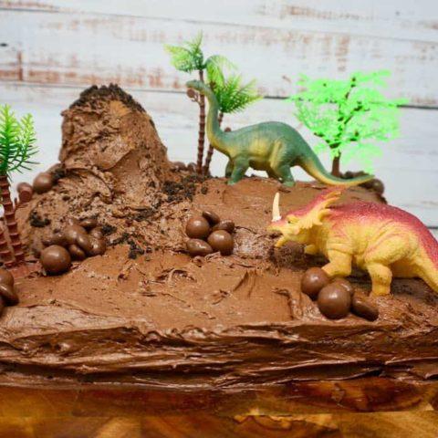 Chocolate Dinosaur Cake