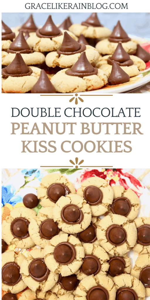 Double Chocolate Peanut Butter Kiss Cookies
