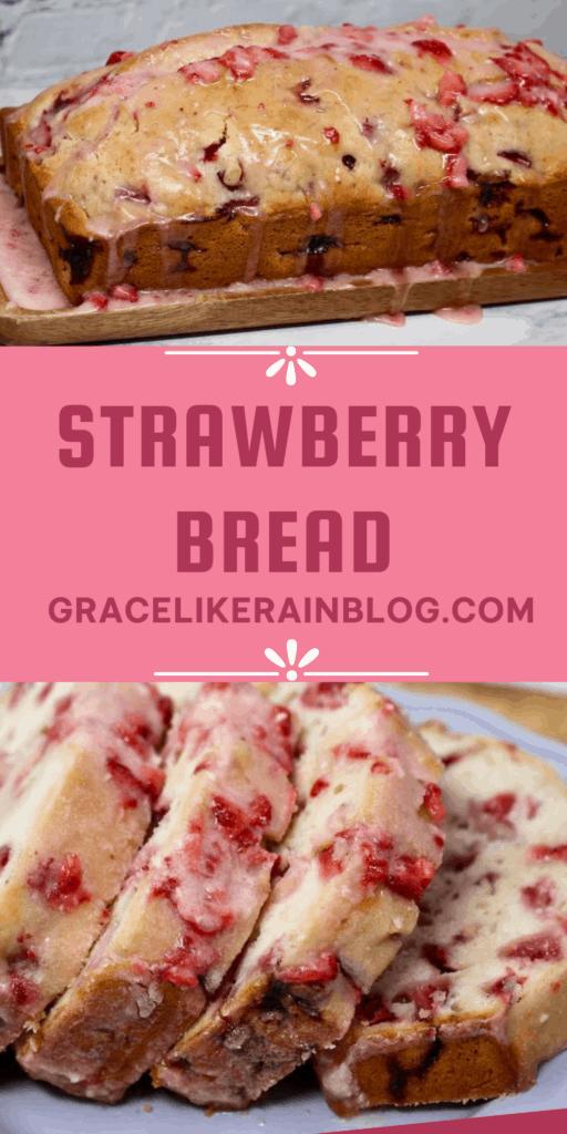 Strawberry Bread with Glaze