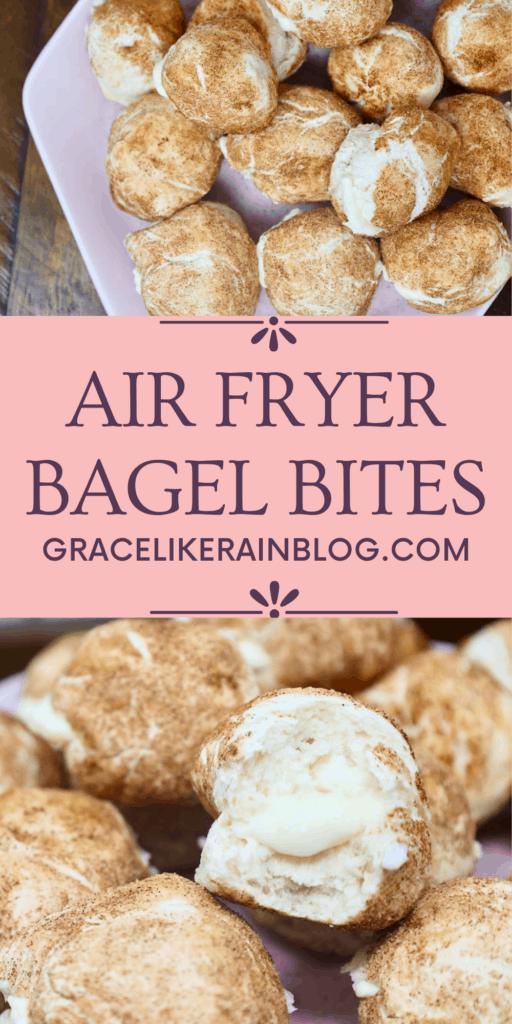 Air Fryer Cream Cheese Stuffed Bagel Bites