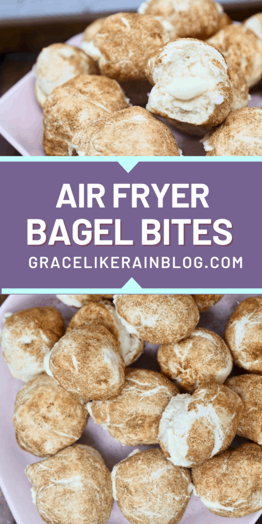Air Fryer Cream Cheese Bagel Bites
