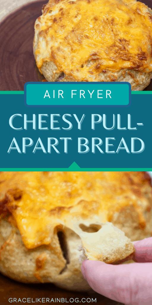 Air Fryer Cheesy Pull-Apart Bread