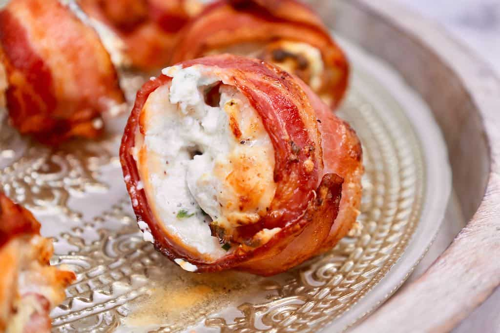 air fryer bacon chicken bombs