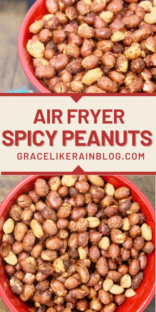 Air Fryer Spicy Peanuts