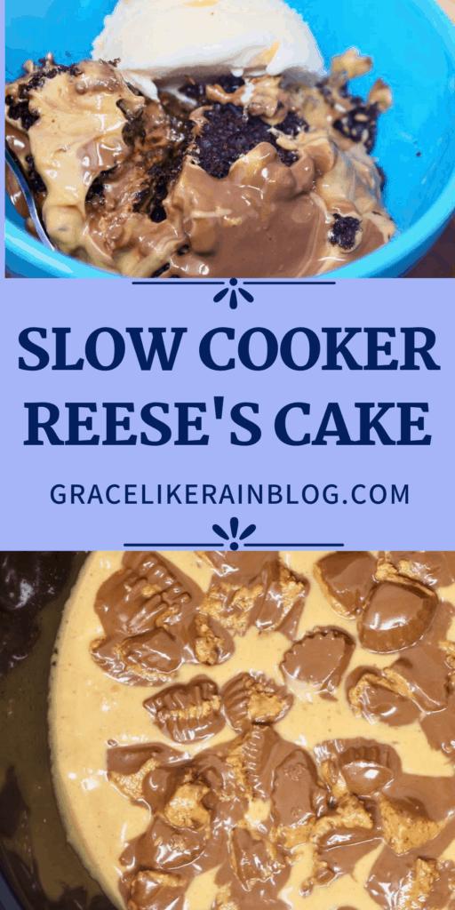 Crock Pot Reese's Cake
