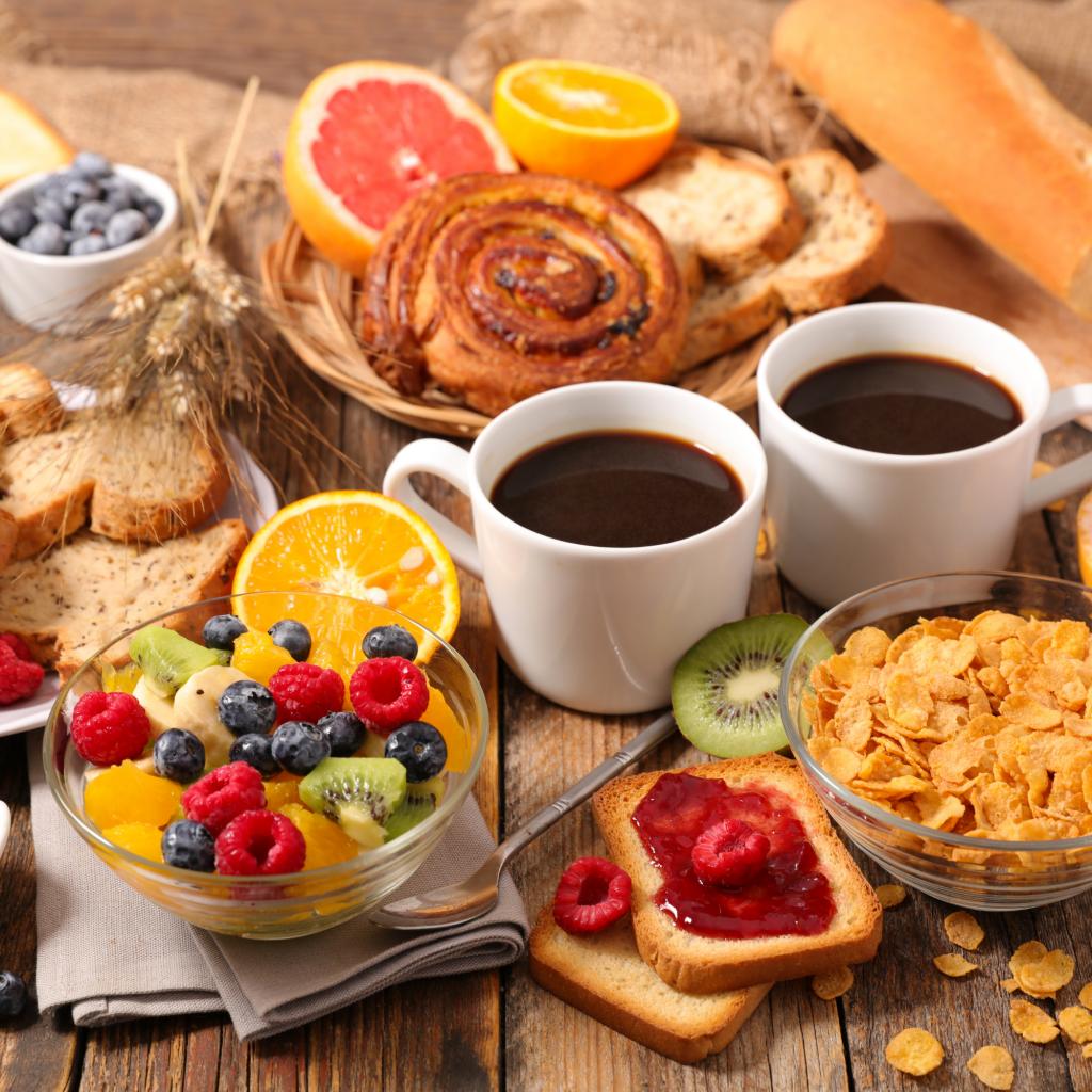 vacation breakfast spread