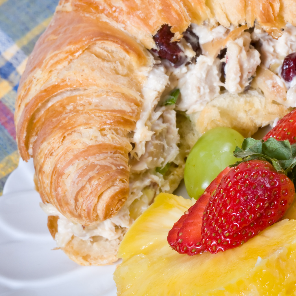 Chicken salad sandwiches for family vacation lunches