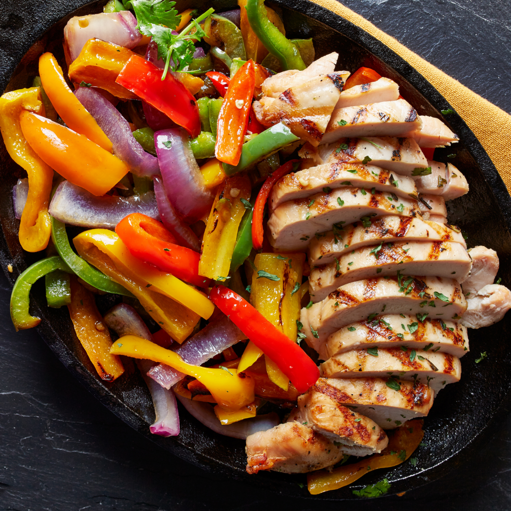 Chicken Fajitas that would be great for a vacation dinner with family