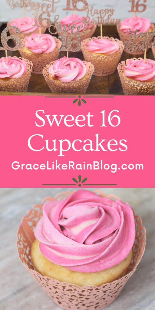 Easy Sweet 16 Cupcakes