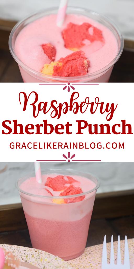 Raspberry Sherbet Punch