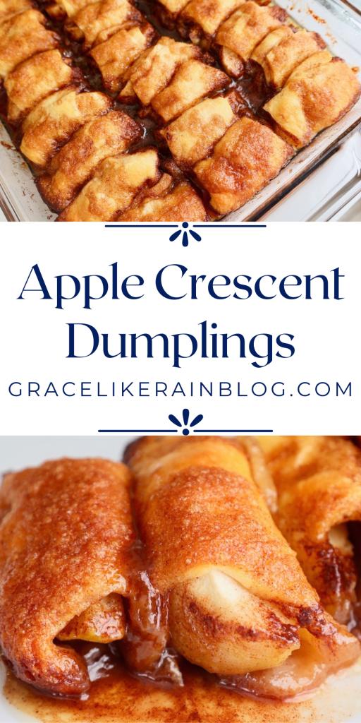 Apple Crescent Dumplings with Sprite