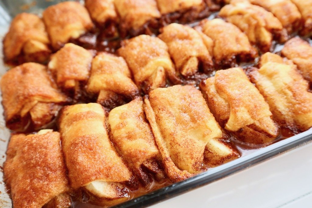 Apple Dumplings Made with Crescent Rolls and Sprite